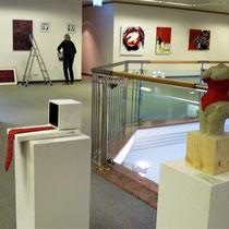 Aufbau ROT Ausstellung