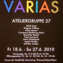 Ausstellung Varias jeweils 1 Bild von verschiedenen Künstlern interpretiert