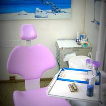 Hier wird die professionelle Zahnreinigung vorgenommen