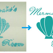 ハンドメイドアクセサリー Mermaid's Room様(ロゴトレース)