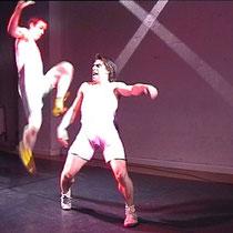 """""""Forever Jung - Zerfressen"""" im CASAMAXX-Theater Köln - Rolle: Satan de Luxe (Foto: X 2001), mit Christoph Seeger-Zurmühlen"""
