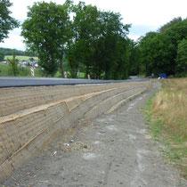 KBE Grün G, Baustellenfoto mit Erosionsschutzmatte aus Naturfasern