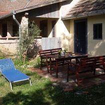 Neuer Sitzplatz im Garten