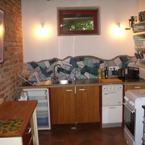 Küche Ziegelsichtmauerwerk
