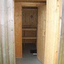 Ein Blick in die Sauna