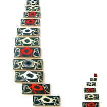 """""""Medusa"""", 2007, installazione, tecnica mista su legno di recupero, 3,50 m x 1,50 m"""