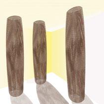 Installazione, progetto grafico, 2007, materiale aziendale di recupero