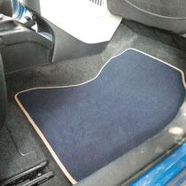 tappeti Toyota iQ in velluto lusso blu