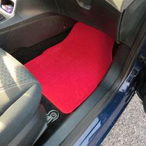 tappeti su misura in velluto lusso rosso