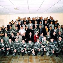 19.03.2004 les anciens du 110 à l' EAI Montpellier. Chefs de corps : Gal Prost 67-69, Gal Schwartz 75-77, Gal Bauer 90-92.