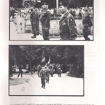 1996 : Passation de commandement, Gal Budde Cdt la BFA, Col Bruss second, Col Pellabeuf et Col Beraud.