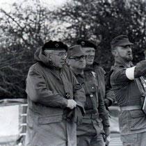 Col Most, chef de corps (81-83) et le col Cot, à la gauche du Gal, chef de corps du 110 de 77 à 79.