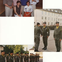 Col Falzone, Mme Everke. Remise de l' ONM au CNE Tessier.