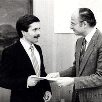 Oberbürgermeister Bernhard Everke avec Bürgermeister Bernhard Kaiser.