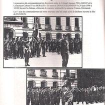 1996 : Passation de commandement entre le Col Pellabeuf et le Col Beraud.
