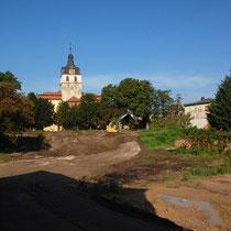 Ansicht Käthe-Kollwitz Straße Richtung Schlosskirche