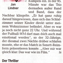 WM-Sonett von Jan Lindner zur Fußball Weltmeisterschaft 2018 in der Leipziger Volkszeitung