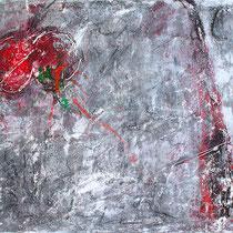 """Versuchung"" - 100x70x3,5 cm - Malerei von Linda Ferrante"