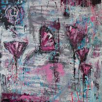 """Free"" - 100x120x3,5 cm - Malerei von Linda Ferrante"