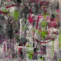 """""""Ohne Titel"""" - 100x100x3,5 cm - Malerei von Linda Ferrante"""