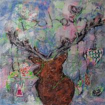 """""""Dahoam"""" - 100x100x4 cm - Malerei von Linda Ferrante"""