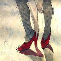 Tanzschuhe anziehen