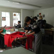 Handarbeit in der Alten Schule