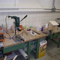Werkraum Werkzeuge