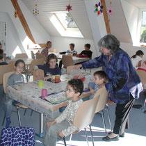 In der neuen Tagesschule mit Erna Bachmann