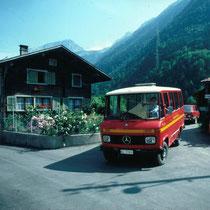 Autobus Schwanden-Sool, damaliger Wendeplatz Dörfli