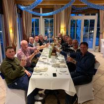Siegertisch Team Blau am Abschlussabend