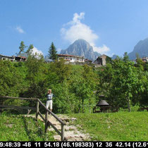 oben liegt das Dorf Andreis
