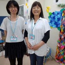 復興支援サポーターの菅野さん(左)と村上さん(右)。