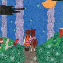 星降る夜道