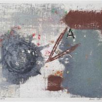 1978, o.T., 45 x 35, Wachsfarbendruck