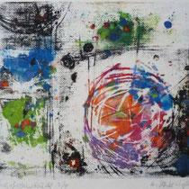1978, o.T., 20 x 17, Wachsfarbendruck