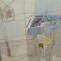 1964, o.T., 50 x 38, Aquarell/Tusche