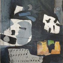 1993, FENSTER IN DER DAEMMERUNG, 50 x 60, Enkaustik/Mischtechnik