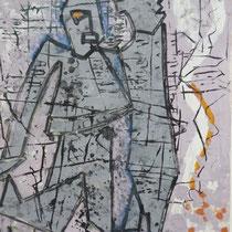 1960, WARTEN AUF GODOT, 41,5 x 47, Aquarell