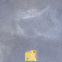 1996, WÜRFELSPIEL DES LEBENS, 50 x 60, 6-teilig, Enkaustik mit Blattgold