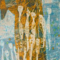 1961, o.T., 43 x 61, Tempera - Graffito, Privatbesitz Bonn