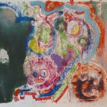 1974, o.T., 39,5 x 33, Wachsfarbendruck