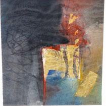 1992, TRAUM, 25,5 x 23, Mischtechnik