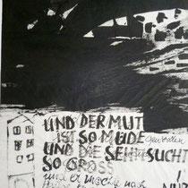 1990, DER CORNET II, 60 x 80, Mischtechnik