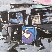 1972, WARTEN AUF GODOT, 56,5 x 45, Aquarell