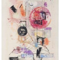 1968, o.T., 32 x 48, Wachsfarbendruck