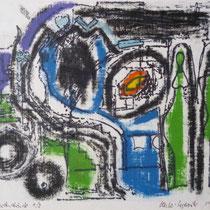 1972, WIR, 30 x 24,5, Wachsfarbendruck