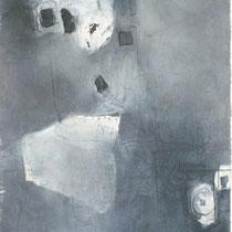 1996, ASCHERMITTWOCH - UNTERWEGS, 62 x 92, Enkaustik
