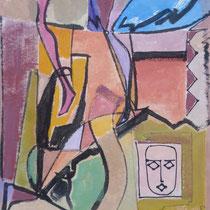 1971, o.T., 38 x 45,5, Aquarell