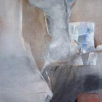 1990, DER BLAUE VOGEL, 60 x 80, Enkaustik